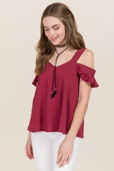 Nichelle Cold Shoulder Sweetheart Cupro Top