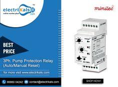 #Relay - #Minilec S2 CMR 1 #DINRailMounted 3Ph. Pump #ProtectionRelay (Auto/Manual Reset) Online @ Electrikals.com