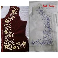 Thread Art, Needle And Thread, Ribbon Embroidery, Embroidery Designs, Loom Patterns, Coats For Women, Designer Dresses, Caftans, Doula