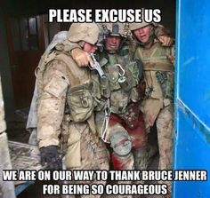Yes, Caitlyn Jenner showed bravery. But risking your life to protect people that you don't even know deserves recognition far more than a personal victory.