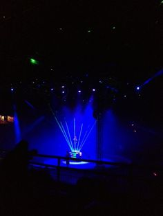 A real-life laser dance at the circus