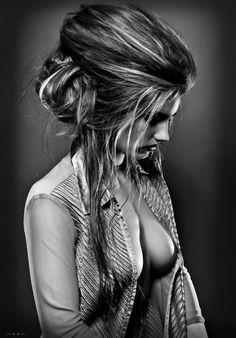 sexy open shirt portrait