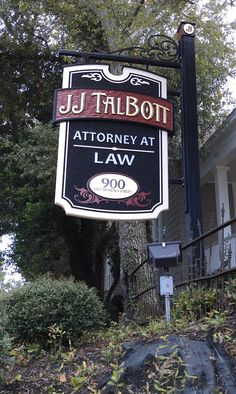 Attorney sign - Jessica A. Hill....attorney at law...life goal