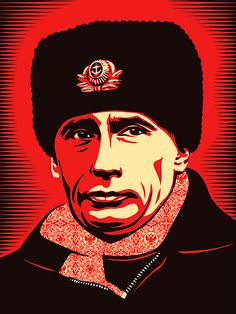 Illustration of Putin by Shepard Fairey for Time magazine 2007