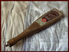 PABST Blue Ribbon Special Dark Beer 1950s 1960s Era Keg Wood Paddle Tap Handle @ http://ajunkeeshoppe.blogspot.com/  HP 3335