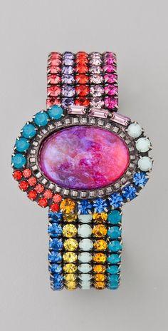 I WANT this glitz for my wrist!!!! Dannijo