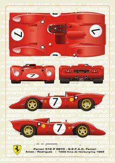 Ferrari 312 P Spyder Nurburgring 1969 Amon-Rodrigu by ibsenop on DeviantArt