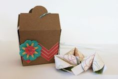 take out box and fortune cookies