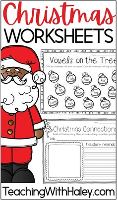 Christmas Printables Pack by Haley O'Connor. This Christmas themed curriculum is no prep, so it is easy for you during this crazy time of year! It is also perfect for fast finishers, homeschoolers, and enrichment. There are both Christmas math worksheets and Christmas literacy activities. From Gingerbread Math, Vowels on the Tree, to Silent E Stockings. Great math lessons and literacy worksheets for kindergarten, first grade, and second-grade curriculum. Learn more. Number Sense Activities, Math Activities, Literacy Worksheets, Poetry Lessons, Math Lessons, Christmas Math Worksheets, Christmas Printables, Christmas In America, Some Sentences