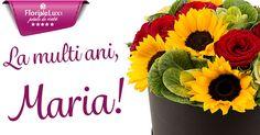 felicitare virtuala, felicitare pentru Sfanta Maria, felicitare cu la multi ani si flori pentru Sfanta Maria