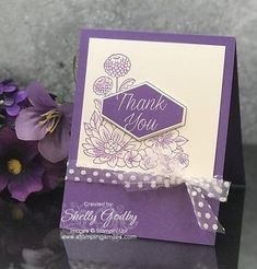 Stampin' Up! Accented Blooms card designed by Shelly Godby of www.stampingsmiles.com with Stampin' Up! Accented Blooms Stamp Set