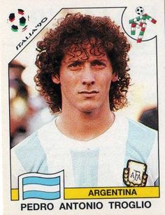 Pedro Troglio of Argentina. 1990 World Cup Finals card. Football 2018, National Football Teams, Football Soccer, Football Players, Football Stickers, Football Cards, Baseball Cards, Steven Gerrard, Premier League