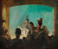 Everett Shinn (American, 1876-1953), Paris Theatre