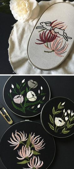 Image result for embroidery white thread on dark fabric