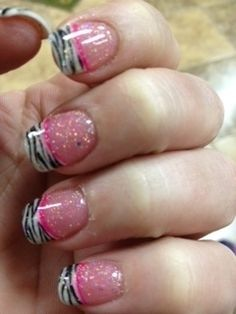 Pink Zebra nails! My friend had these done the other day and I had to share!