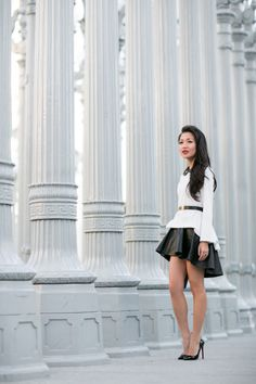 The Return of B :: Ruffle train blouse & Structured skirt :: Wendy's Lookbook