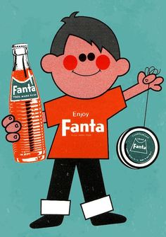 An old Fanta ad from New Zealand 1960s