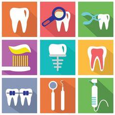 Conjunto de elementos flat acerca de los dentistas Vector Gratis