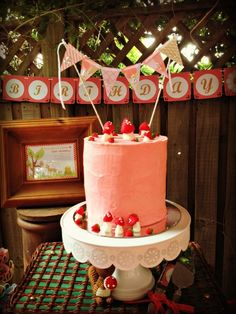 Woodland Party Cake #woodland #cake