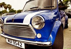 classic blue mini cooper
