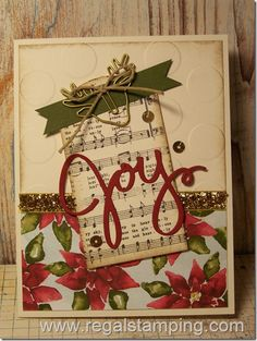 Joy at Christmas by sanitystamper - Cards and Paper Crafts at Splitcoaststampers
