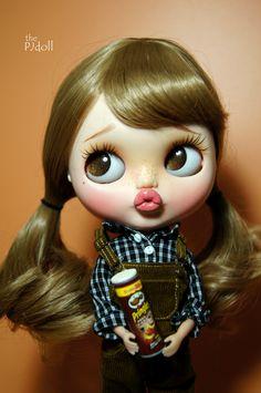 thePJdoll Sad Lilly Custom Blythe Doll/OOAK handmade