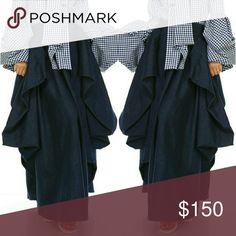 Skirt Denim layered maxi skirt tov Skirts Maxi