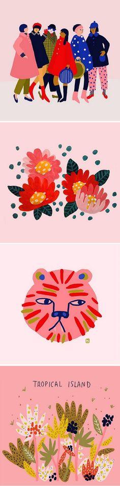 Illustrations by Jennifer Bouron / on the Blog!