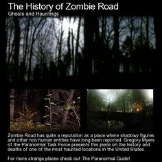 Zombie Road has quite a reputation as a place where shadowy figures and other non human entities have long been reported. Gregory Myers of the Paranormal Task Force presents this piece on the history. Spooky Stories, Weird Stories, Ghost Stories, Urban Stories, Horror Stories, History Of Zombies, Creepy Facts, Creepy Things, Creepy Stuff