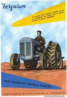 carte postale Tracteur Ferguson