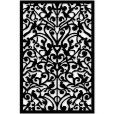 Home Depot carries this beautiful style of lattice. Acurio Latticeworks in. x 32 in. x 4 ft. Black Ginger Dove Vinyl Decor at The Home Depot Home Depot, Vinyl Decor, Wall Decor, Wall Art, Decorative Screen Panels, Vinyl Lattice Panels, Vinyl Panels, Vinyl Windows, Lattice Fence