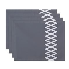 Side Diamond Stripe Print Table Top Placemat