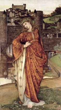 Ephemera Women John Roddam Spencer Stanhope, Our Lady of the Watergate - Pre Raphaelite Art John Everett Millais, Dante Gabriel Rossetti, Medieval World, Medieval Art, Pre Raphaelite Paintings, Renaissance Kunst, Pre Raphaelite Brotherhood, John Spencer, Victorian Art