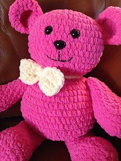Blanket Bear is a Super soft Teddy made with Bernat Blanket Yarn.