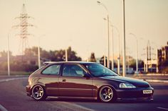 #honda #civic #ek #hatch #slammed #stance