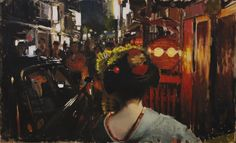 The Pleasure Quarters  original oil painting by PhilCoutureFineArt, $600.00