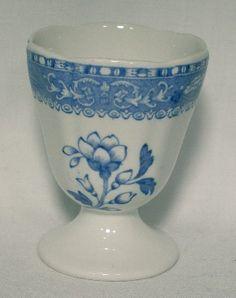 Spode China Camilla Blue Single Egg Cup Older Scalloped | eBay