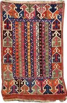 Rare Striped Sivas 'Yastik', East Central Anatolia, 19th c.
