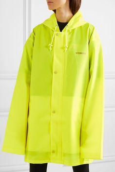 ba6743ad31185a Vetements - Hooded printed neon coated-shell raincoat