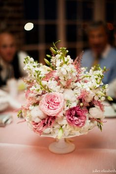 Hydrangea, stock, astilbe, lisianthus, garden roses and cotton reception wedding flowers,  wedding decor, wedding flower centerpiece, wedding flower arrangement, add pic source on comment and we will update it. www.myfloweraffair.com can create this beautiful wedding flower look.