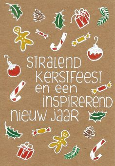 Kerstwens Merry Christmas And Happy New Year, Christmas Greetings, Christmas Time, Christmas Crafts, Holiday, Chrismas Cards, Xmas Cards, Present Wrapping, Birthday Cards
