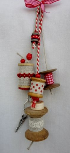 157 Best Altered Ribbon Amp Thread Spool Crafts Images In