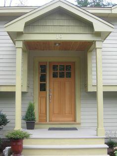 portico with cedar | Raised ranch reno