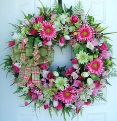 Custom order Large Beautiful Spring wreath by WreathsbyKimberly
