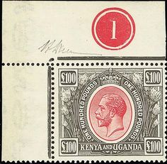 Kenya and Uganda stamp to make up to $125,500 at Spink? Rare Stamps, Vintage Stamps, Colonial, Crown Colony, Stamp Auctions, Kenya, Tanzania, King George, East Africa
