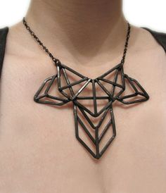 Geometric Necklace Art Deco Revival Necklace by JamieSpinello