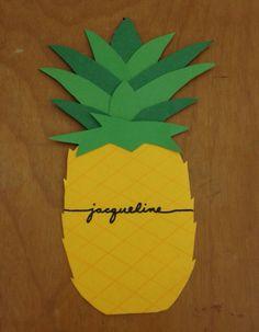 Pineapple door decs