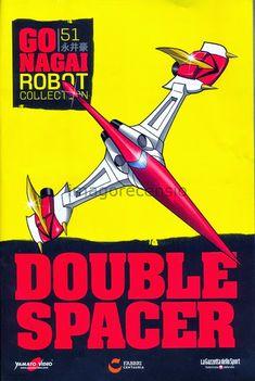 Imago Recensio: Go Nagai Robot Collection 51 Double Spacer Robot Cartoon, Cartoon Art, Super Robot, Robot Art, Tarzan, Typography Logo, Manga Anime, Marvel, Collection