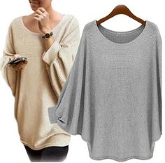 New sweater Women candy color Oversized Batwing Knitted Pullover Loose Sweater Knitted Tops high quality clothing Long Sweater Coat, Loose Sweater, Long Sweaters, Pullover Sweaters, Oversized Sweaters, Cotton Sweater, Casual Sweaters, Jumpers For Women, Blouses For Women
