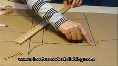 Trazo posterior del pantalon femenino-El costurero de Stella con instrucciones  especificas para evitar pliegues en el tiro trasero y explicaciones de la profundidad de las pinzas.